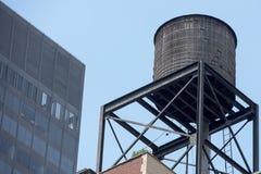 Танк водонапорной башни Нью-Йорка Стоковое Изображение RF