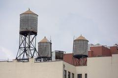 Танк водонапорной башни Нью-Йорка Стоковая Фотография