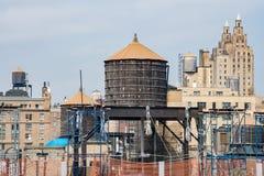 Танк водонапорной башни Нью-Йорка Стоковое Фото