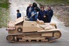 Танк итальянки WW II на Militalia 2013 в милане, Италии Стоковая Фотография