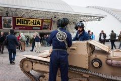 Танк итальянки WW II на Militalia 2013 в милане, Италии Стоковое Изображение