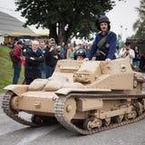 Танк итальянки WW II на Militalia 2013 в милане, Италии Стоковая Фотография RF