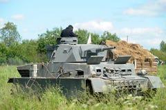 Танк Немецкое военное оборудование от Второй Мировой Войны на реконструкции поля брани для того чтобы отпраздновать день победы стоковая фотография rf