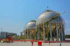 Танк природного газа стоковая фотография