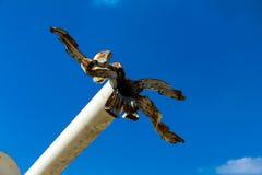Танк с сломленным бочонком карамболя Антивоенный символ Стоковая Фотография