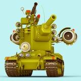 Танк шаржа супер иллюстрация 3d Стоковые Фото