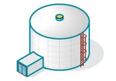Танк для хранить вода, газ, масло, кислород и твердые топлива иллюстрация штока