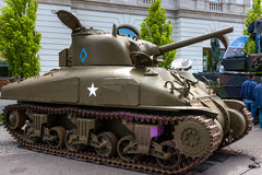 Танк M4 Шермана Стоковые Фото