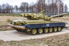 Танк T-80BV в экспозиции к солдатам интернационалистов Стоковые Изображения RF