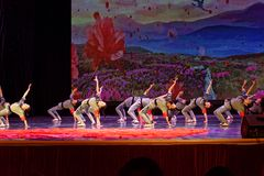 Танца ` s детей испытания академии танца Пекина корпусов ` s детей сортируя выставка Цзянси достижения выдающего уча Стоковая Фотография RF