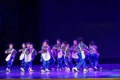 Танца ` s детей испытания академии танца Пекина newsboys сортируя выставка Цзянси достижения выдающего уча стоковые фотографии rf