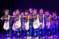 Танца ` s детей испытания академии танца Пекина newsboys сортируя выставка Цзянси достижения выдающего уча стоковая фотография rf