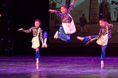 Танца ` s детей испытания академии танца Пекина newsboys сортируя выставка Цзянси достижения выдающего уча стоковые изображения rf