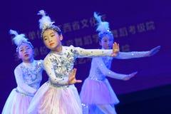 Танца ` s детей испытания белой академии танца Пекина павлина сортируя выставка Цзянси достижения выдающего уча стоковые фото