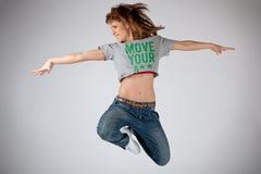 Танцевать в воздухе Стоковые Изображения