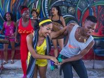Танцевать в Гаване Кубе Стоковое Изображение RF