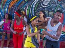 Танцевать в Гаване Кубе Стоковая Фотография