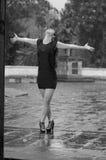 Танцевать в дожде Стоковая Фотография RF