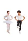 танцевать детей межрасовый совместно Стоковое Изображение RF