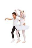 танцевать детей межрасовый совместно Стоковые Фотографии RF
