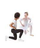 танцевать детей межрасовый Стоковые Изображения RF
