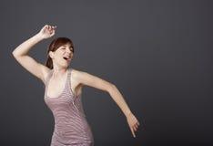 Танцевать и петь стоковые изображения rf