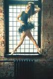 Танцевать крытый, год сбора винограда балерины Здоровый балет образа жизни Стоковые Фото