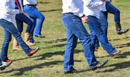 Танцевать outdoors западный танец Стоковая Фотография RF