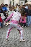 Танцоры выполняя для отверстия масленицы Salta, Аргентины Стоковые Фото