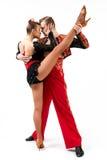Танцоры в национальных костюмах Стоковые Изображения