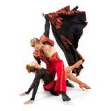 Танцоры в национальных костюмах Стоковое Изображение