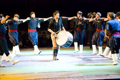 танцоры греческие стоковые фото