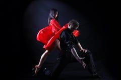 танцоры действия стоковая фотография