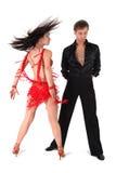 танцоры изолировали белизну Стоковые Изображения