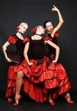 танцоры испанские стоковое изображение