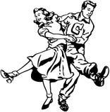 Танцоры качания иллюстрация штока