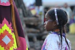 Танцоры коренного американца на плен-вау Стоковые Фотографии RF