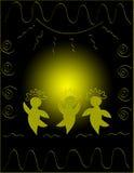 танцоры круга Иллюстрация штока