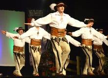 Танцоры мужчины польские стоковые изображения