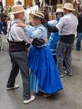 Танцоры на фестивале Канарских островов Стоковая Фотография
