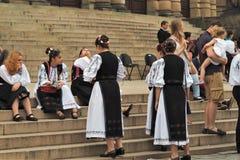Танцоры отпускников ждут представления Стоковая Фотография