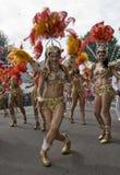 Танцоры от школы Paraiso самбы плавают стоковая фотография