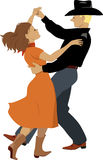 Танцоры польки Стоковые Изображения RF
