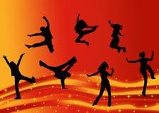 танцоры предпосылки Стоковые Изображения RF