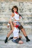 танцоры самомоднейшие Стоковое фото RF