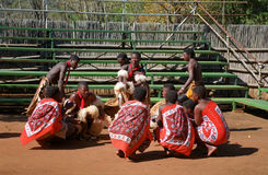 Танцоры Свази, Свазиленд Стоковые Фотографии RF