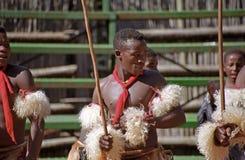 Танцоры Свази, Свазиленд Стоковое Фото