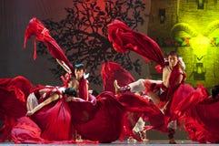 Танцоры соотечественника Qiang китайца Стоковые Фотографии RF
