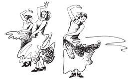 Танцоры фламенко. Стоковое Изображение