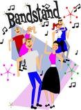 танцоры bandstand Стоковая Фотография RF